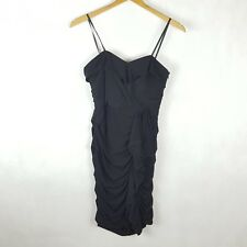 Sonia Otto Couture Dress Size 10 Black Strapless Ruched