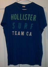 Hollister Surf Team CA Blue T-Shirt Size XL EUC Free Shipping!