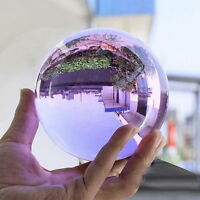 Hot  Asian Natural Quartz Purple Magic Crystal Healing Ball Sphere 40mm+Stand YM