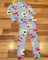 Baby Gap Girls Factory Size 5 / 5T Blue & Pink Floral 2-Piece Pajamas. Nwt