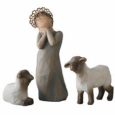 Willow Tree Christmas Nativity Little Shepherdess Figurine Set 26442 in Gift Box