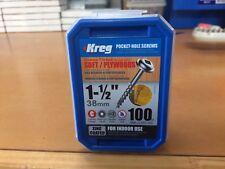 "Kreg Pocket Hole Screws - 1-1/2"", #8 Coarse, Washer-Head, 100 Pkt"