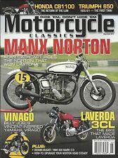 Motorcycle Classics magazine Manx Norton Vinago Laverda 3Cl Honda Triumph 650