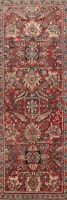 Antique Traditional Mahal Sarouk 10 ft. Runner Rug Hand-knotted Wool 4'x10'