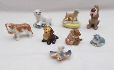 Job Lot Of Wade Whimsies Dogs Cat Bird Polar Bear Seal & Boxer Dog Candle Holder