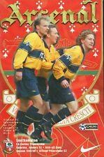 Football Programme - Arsenal v Southampton - Premiership - 31/1/1998