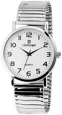 Herrenuhr Damenuhr Armbanduhr Metall Zugband Uhr rund 38 Mm mit Ersatzbatterie