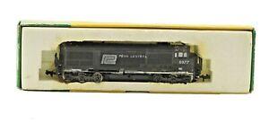 Vintage N Scale MiniTrix Penn Central 6799 Diesel Locomotive Black Lot A in Box