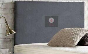 Premium CHENILLE upholstered Plain Headboard - 2FT6, 3FT, 4FT, 4FT6, 5FT, 6FT