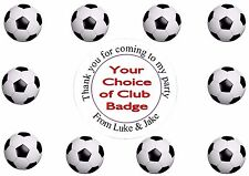 35x Personalised FOOTBALL inspired Stickers Party Seals for sweet cone bags
