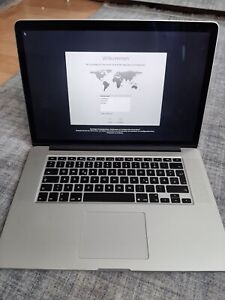 Apple Macbook Pro 15 A1398 (production Year 2016.)
