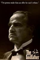 THE GODFATHER POSTER Profile Respect Quote NEW 24X36