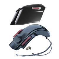 "4"" CVO Extended Hard Saddlebags Rear Fender For Harley Touring Road Glide 14-Up"