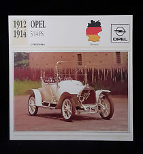 D2 CARD SCHEDA TECNICA UTILITARIA OPEL 5/14 PS 1912/14 GERMANIA
