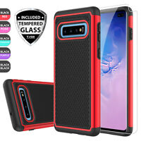 For Samsung Galaxy S10 Plus/Note 9/8/S8/S9 Hybrid Case Cover + Screen Protector