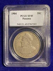 panama 50 centesimos 1904 pcgs xf45