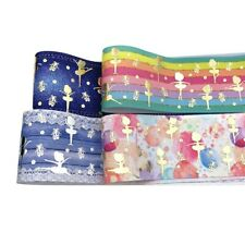 1 yard Bronzing Printed Thermal Transfer Grosgrain Ribbon Gifts Wrapping Accesso