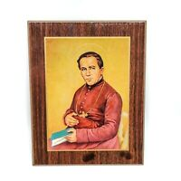 Vintage Saint John Neumann Plaque Wall Hanging Catholic Religious Decor