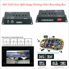 360° Full Round View Car Parking Video Record DVR Split Image Screen Switch Box