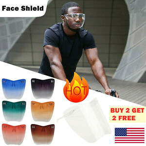 Face Shield Protective Facial Cover Transparent Glasses Visor Anti-Fog Adults US