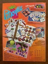 1987 Pineapple Stickers Cards Fatt Heads Madballs Toys Vintage Print Ad/Poster