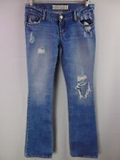 Hollister Women's 1 R Distressed Destroyed Denim Jeans Casual Pants 100% Cotton