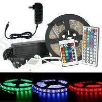 16.4ft 5M 60Leds/M 3528/5050 SMD RGB LED Strip Light / IR Remote / Power Supply