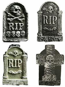 4PCS Halloween Tombstones Graveyard Gravestones Headstones Decoration 42cm UK