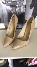 New Lipstick Stiletto Heels, Patent Nude, Size 8