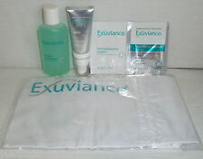 Exuviance Night Lift 0.5oz Purifying Cleansing Gel 2.0 Oz Samples And Cloth Bag