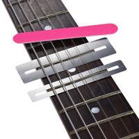 Guitar fret Repairing Tool Set Stainless Steel Protector shims&Sanding Polish6TR