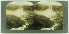 Keystone Stereoview Twin Falls, Yoho Valley, Canada 1920s Scenic America #285 LC