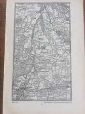 Coulsdon Chandon Redhill c1920 Map London South of the Thames 7x4�
