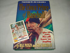 Book CLOWN PRINCE OF BASEBALL Inscribed Max Patkin Stan Hochman Pro Cards Signed
