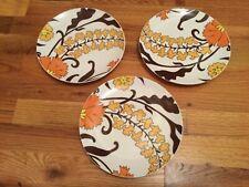 "3 - 8.25"" Pottery Barn Graphic Harvest Salad Dessert Plates"