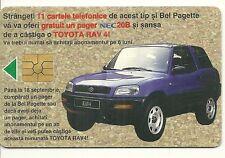 RARE / CARTE TELEPHONIQUE : TOYOTA RAV4 4 x 4 SUV VOITURE AUTO CAR / PHONECARD