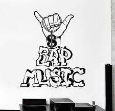 Vinyl Wall Decal Rap Music Teen Room Hip Hop Decor Stickers (ig4439)