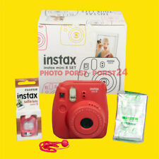 Fujifilm Instax Mini 8 Fun Set rot, Kamera, Bilder, Selfielens, Handschlaufe