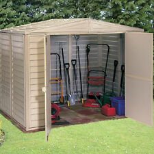 "Garden Shed Duramax Duramate 8'x5'3"" Storage Building Ivory Plastic Sheds PVC"