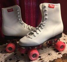 "Vintage Ladies ""Chicago"" Roller Skates In Original Box! Size 9 Near Mint"
