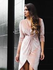 Zara Velvet Wrap Front Dress B4 Size Medium Ref 0594 169
