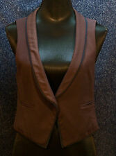Urban Outfitters Lux Brand Vest Plum & Navy Size Medium