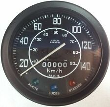 "LAND ROVER SPEEDOMETER KM/H & MPH WITHOUT TRIP SERIES IIA & III 88""/109"" PRC3605"
