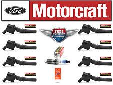 Set of 8 Motorcraft Ignition Coil DG508 FD503 + 8 Motorcraft Spark Plug SP493