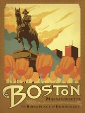 """""""Boston, The Birthplace of Democracy"""", Vintage Sign-recreated, 24x18"""