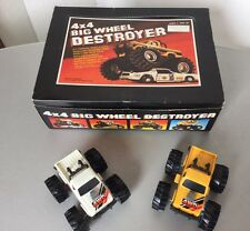 Vintage 1980s  2x Big Foot 4x4  Monster Truck Toy Big Wheel Destroyer+ SHOP BOX