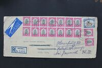 SOUTH AFRICA 1950 Registered cover to Germany with multiple of 12