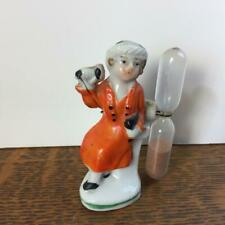 Vintage Porcelain Bisque Lady On the Telephone Hourglass Egg Timer Made in Japan
