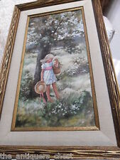 Carol Ann Curran original oil painting of a girl in a meadow, signed by artist