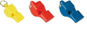 2 x  FOX 40 Classic Official Pealess Referee Whistle & Lanyard Football Sports